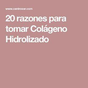 20 razones para tomar Colágeno Hidrolizado