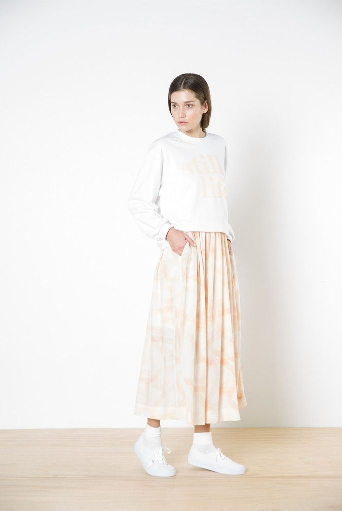 twenty-seven names - Sonia Skirt In Peach Hearts