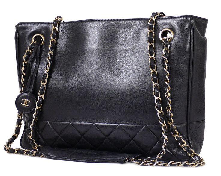 Vintage Chanel Shopping Tote Bag , Chain Shoulder