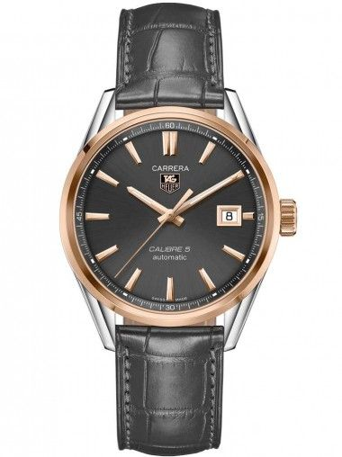 Tag Heuer Carrera Stainless Steel Rose Strap Watch WAR215E.FC6336