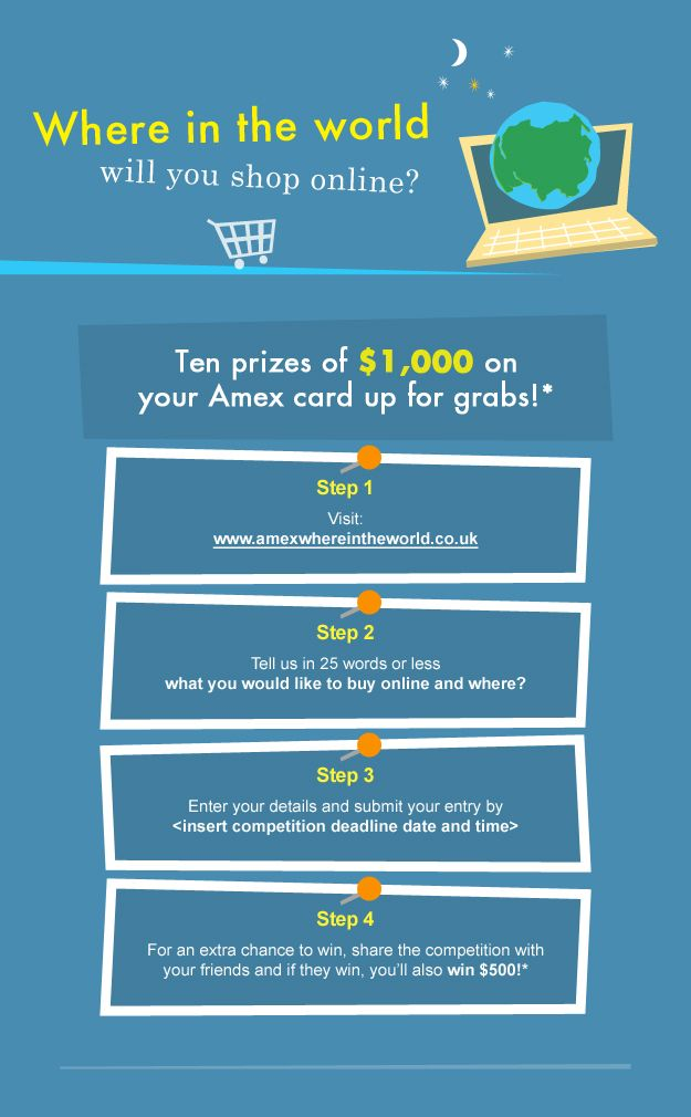 I'm in the running to win $1,000 and you can too! Click here to enter: http://www.amexwhereintheworld.co.uk/c/46GJMZ