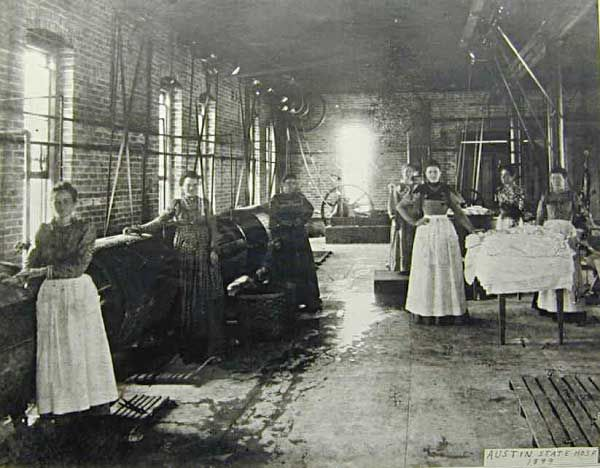 Texas State Lunatic Asylum | Canton Asylum 1898.   Asylums used patient labor to hold down costs and as a sort of occupational therapy.