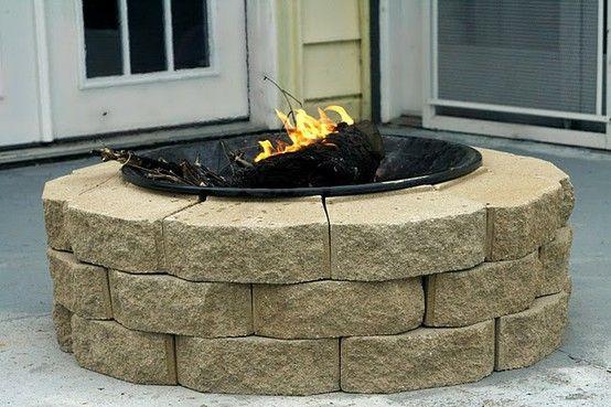 Fire pit Fire pit Fire pitGardens Stones, Fire Pits, Ideas, Weekend Projects, Backyards Fire Pit, Back Yards, Outdoor Fire Pit, Diy Firepit, Back Patios