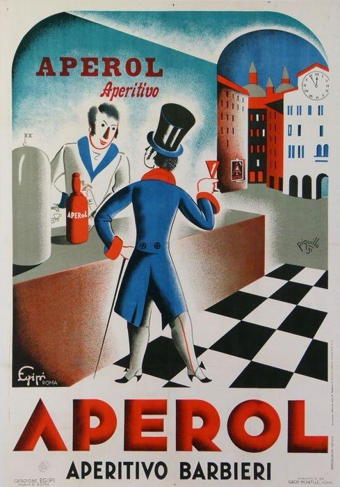 Vintage Italian Posters ~ #illustrator #Italian #vintage #posters ~ Aperol aperitivo italian advertising