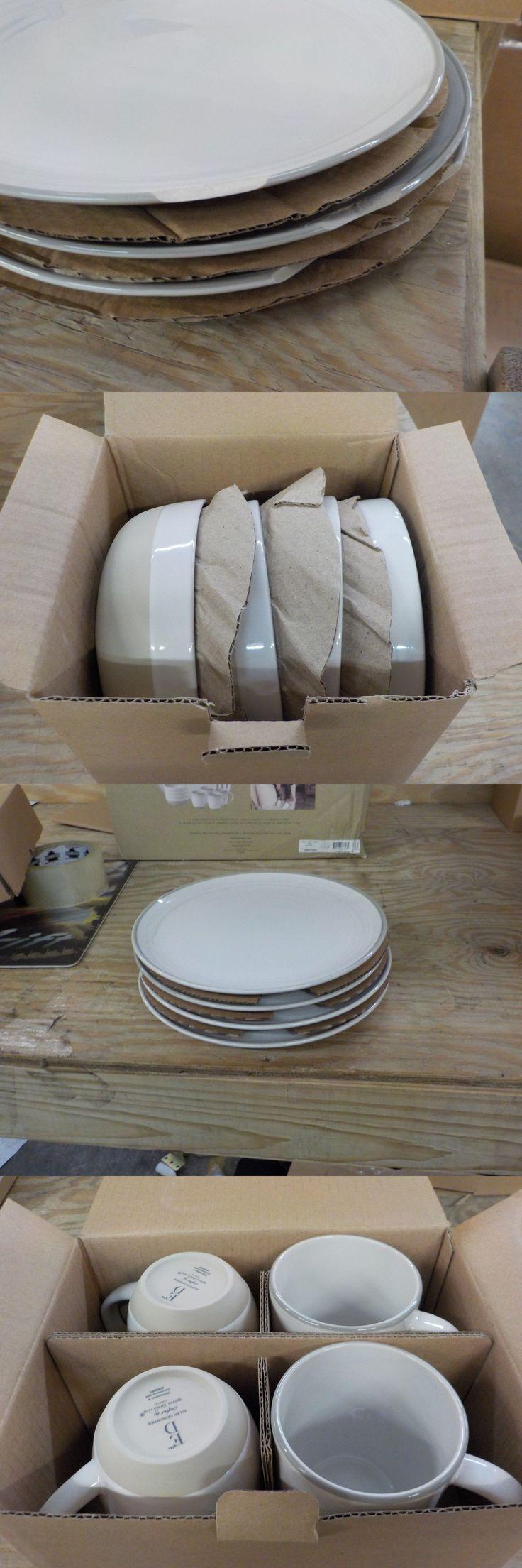 Dinner Service Sets 36032: Ed Ellen Degeneres Brushed Glaze 16-Piece Stoneware Dinnerware In White. *Read* -> BUY IT NOW ONLY: $74.99 on eBay!