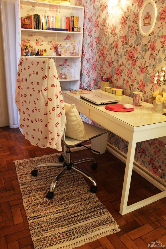 DIY: Papel de parede com tecido (Home Office)