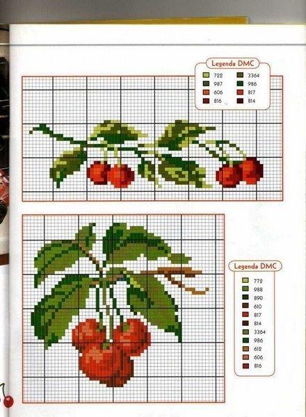 cross stitch - cherries