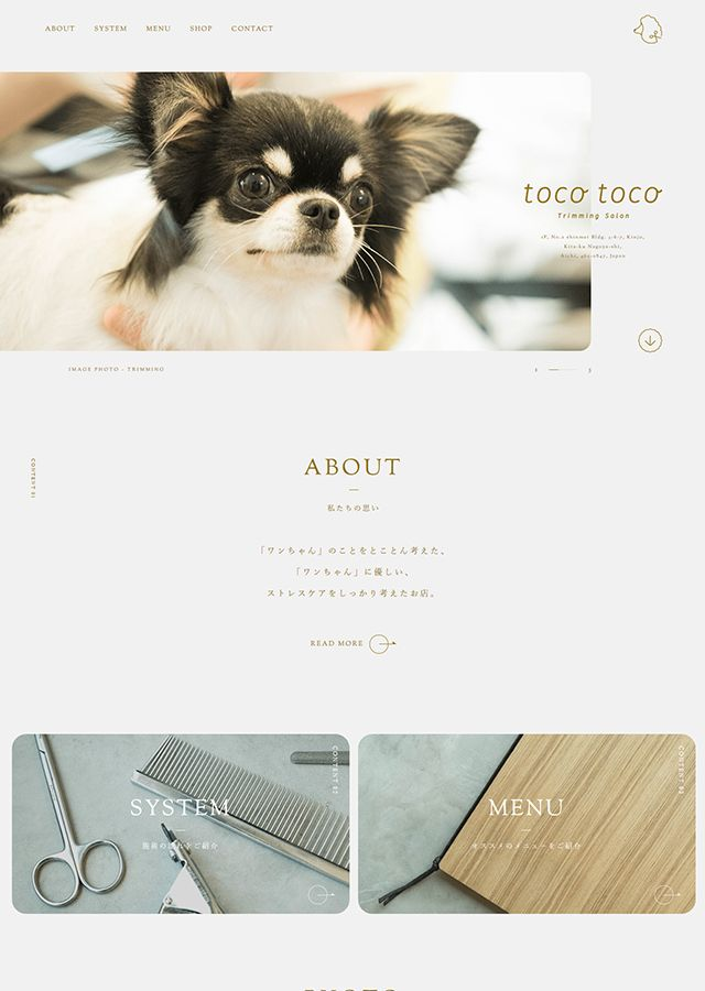 Tocotoco トコトコ 名古屋市北区金城のトリミングサロン Lp デザイン Hp デザイン サイト デザイン