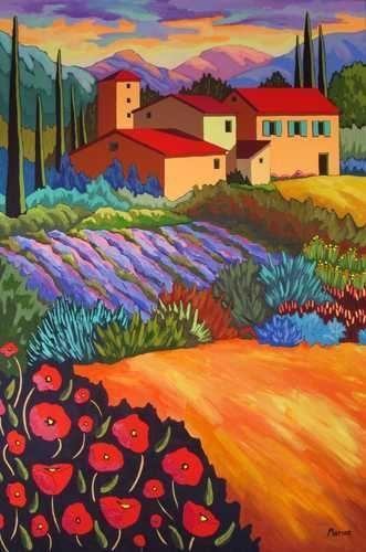 Effervescence by Louise Marion - Louise Marion, artiste peintre, paysage urbain, Quebec, couleurs