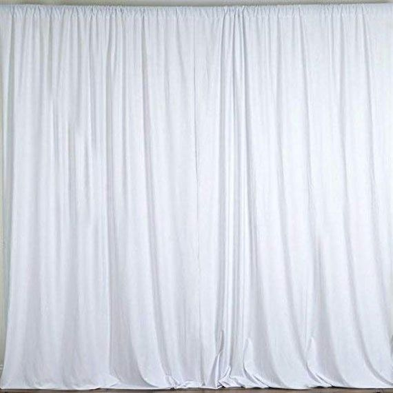 2 Pcs 10 Feet X 10 Feet Polyester Backdrop Drapes Curtains Panels