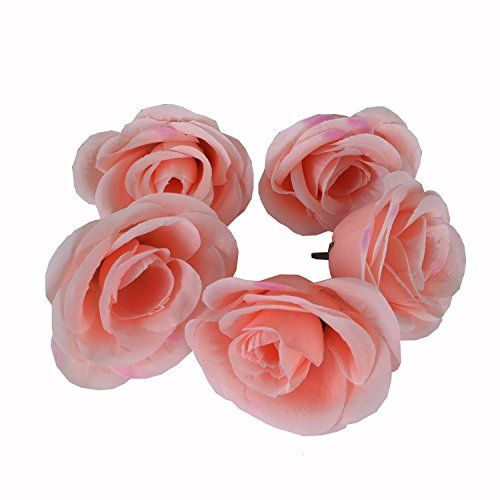 50pcs Artificial Silk 31 Rose Head Colorfulife Simulation Flower Beautiful Wedding Home Party Decoration Bridal Hair Decorative9 Colors Pink ** Want to know more, click on the image.