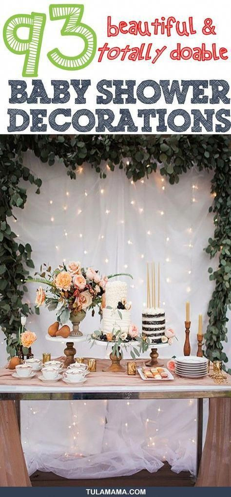 Baby Shower Decorations. Click the link for adorable but totally doable baby shower decoration ideas for baby girl, boy, neutral, indoor and outdoor baby showers. Pin it. #babyshowers #babyshowerdecorations #babyshowerdecor #weddingideasindoorandoutdoor