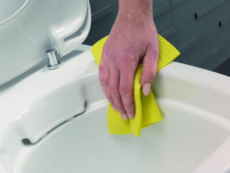 IDO Rimfree® -wc:ssä ei ole lainkaan huuhtelukaulusta, mikä tekee siitä hygieenisemmän ja helpomman pitää puhtaana.