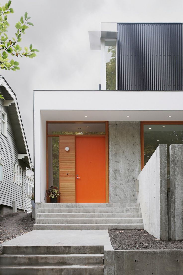 Capitol hill house shed architecture design like the high window above the door