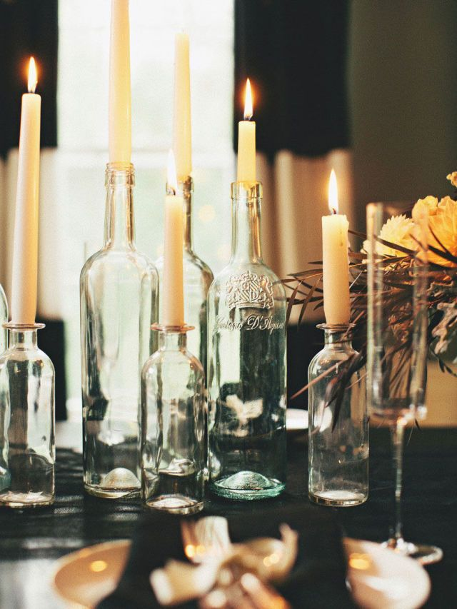 Candles help set the mood for a festive and sophisticated adults-only Halloween party