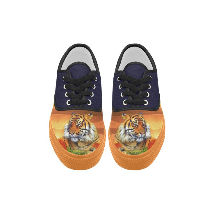 Sumatran Tiger Aries Canvas Platform Men Shoes