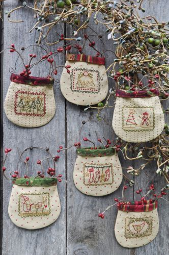 Christmas Stamp Pockets | Hatched and Patched