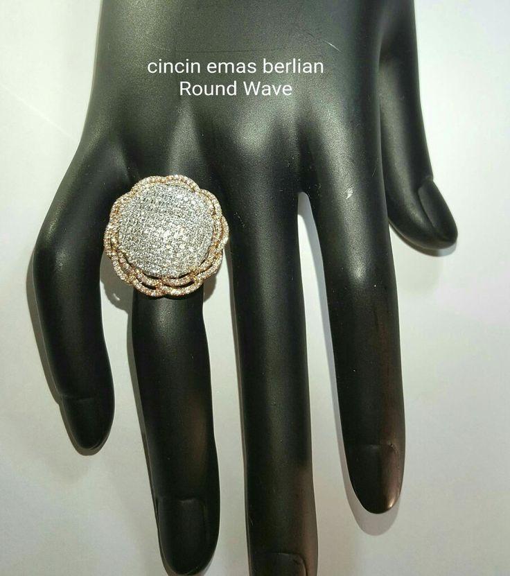 New Arrival🗼. Cincin Emas Berlian Round Waves Style💎💍.   🏪Toko Perhiasan Emas Berlian-Ammad 📲+6282113309088/5C50359F Cp.Antrika👩.  https://m.facebook.com/home.php #investasi#diomond#gold#beauty#fashion#elegant#musthave#tokoperhiasanemasberlian