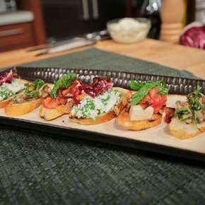 The Chew Bruschetta Trio Recipe by The Chew
