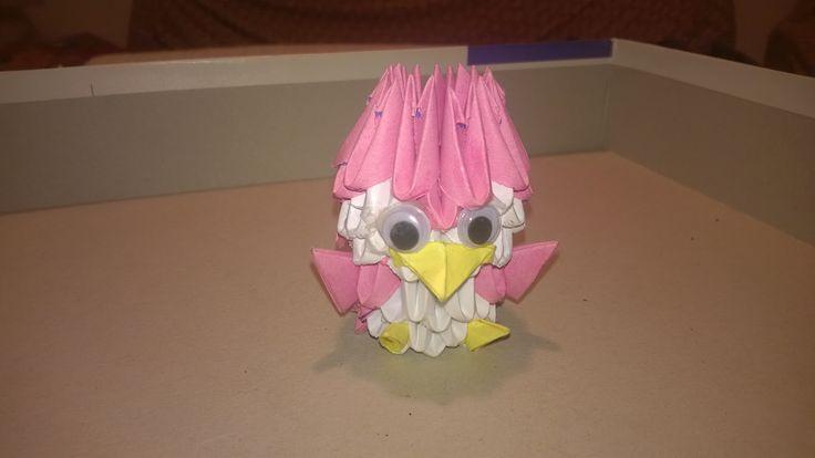 3d origami pinguino