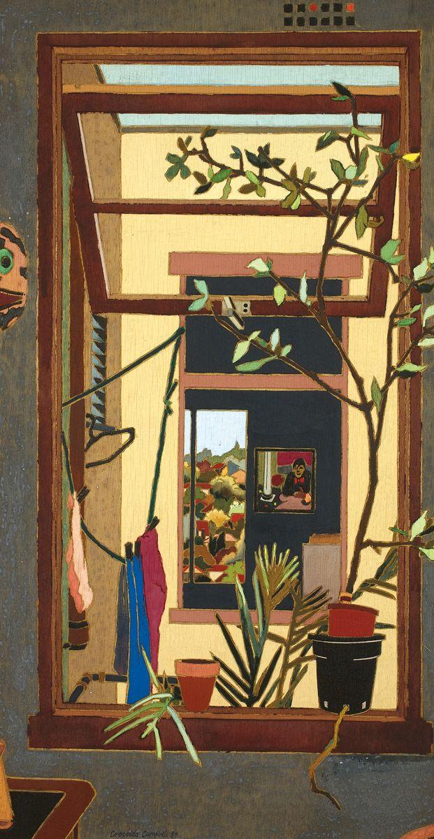 "Cressida Campbell (Australian, b. 1960) - ""Through Windows"", 1984 - Woodblock"