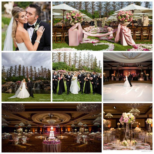 This recent wedding from our blog by Laurel and Party is breathtaking! Held Four Seasons Hotel Westlake Village. #designerwedding #fourseasonswedding