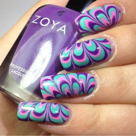 Lacquerheads of Oz: In-Depth Water Marbling Nail Art Tutorial with Zoya Mira, Wednesday & Shelby