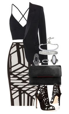 """Untitled #627"" by manoella-f on Polyvore featuring Roland Mouret, Topshop, Yves Saint Laurent, Christian Louboutin, Brian Atwood, Cartier and Monica Vinader"