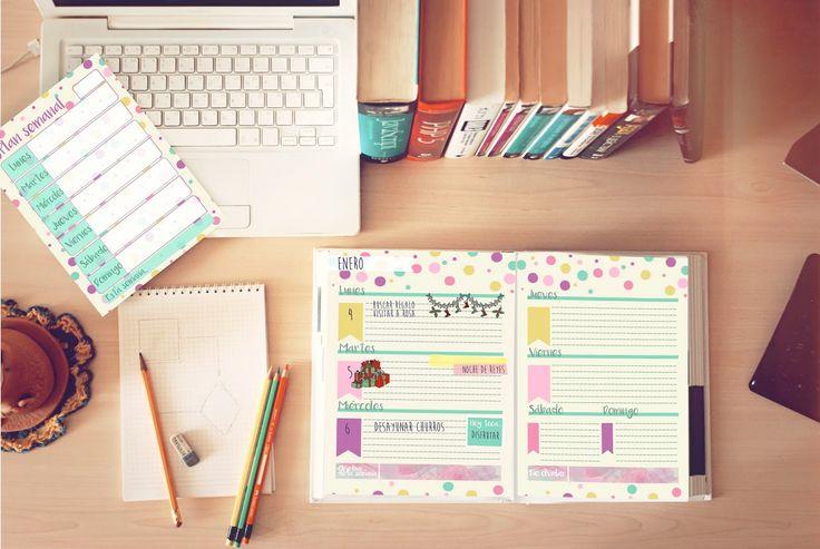 gratis LLUVIA DE IDEAS: Descargables: Pack planifica tu año 2016 con Agenda imprimible