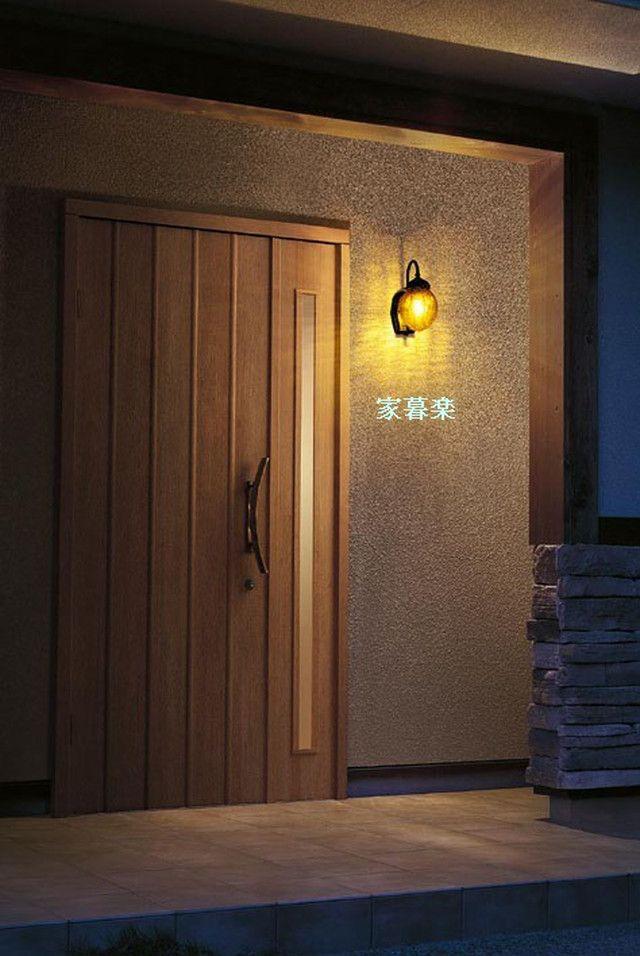 レトロなデザインの人感センサー付き防雨形玄関灯 ポーチライト ナッツ2色 壁付け照明 勝手口 縁側 通用路周辺の屋外でも活用できます おしゃれ かわいい レトロ