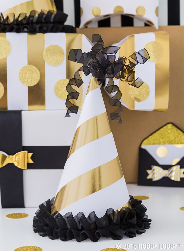 Hosting a New Year's Eve bash? Try crafting your very own party hats and decor!