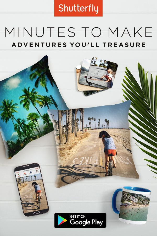 Easily turn your favorite travel moments into keepsakes with the Shutterfly app. Plus, get unlimited free photo storage.