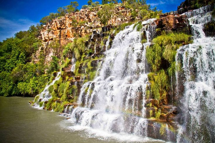 Kings Cascades. One of a number of waterfalls only accessable by a cruise of the kimberley.   www.thekimberleycollection.com.au