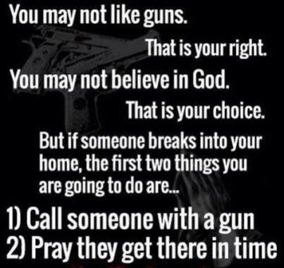 Average police response time is about 10 minutes.  It  is about 17 minutes in Detroit.  Detroit has strict gun regulations guys.  How are my odds if I have to wait 17 minutes for the police to arrive after I hear a man break into my house?