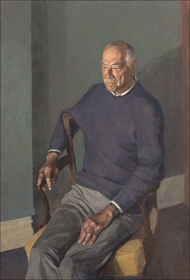 Sam Dalby 'Bill Charlton' half length portrait in oil