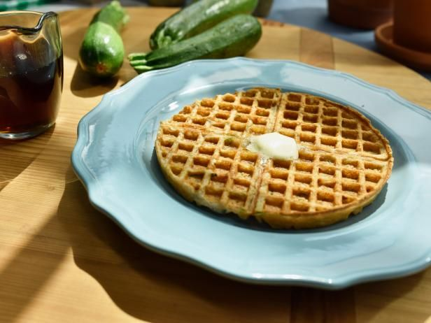Get Zucchini Waffles Recipe from Food Network. SAVORY W/CREME FRAISE, CHEESE? SPINACH DIP?  PULLED PORK?