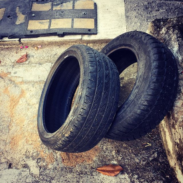 #tire #car #street #iPhone | by Tryfon Tobias Pliatsikouris