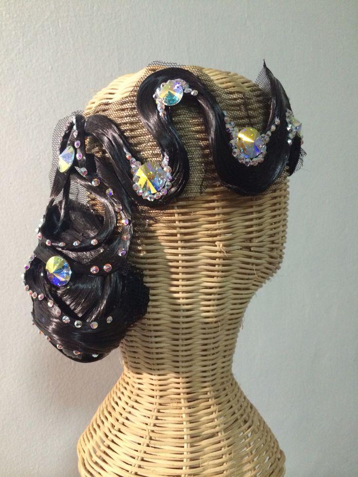 Hair piece for dancesport , ballroom dance By Pakaorn Kuituan ( Best Design Dancewear )