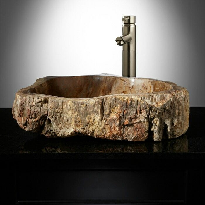 17 best petrified wood vessel sinks images on pinterest for Are vessel sinks out of style