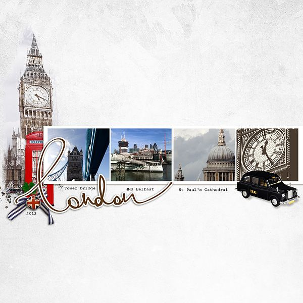 #papercrafting #scrapbook #layout London-2013 - clean layout