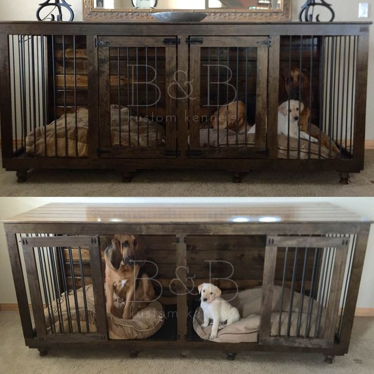 44 Best Images About Home Sweet Home On Pinterest Wooden Dog Kennels Dog Crate Furniture And