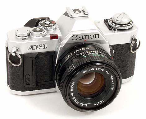 Canon AV-1   Aperture Priority Camera  My first 35mm SLR  Still got it, still works, still use it.
