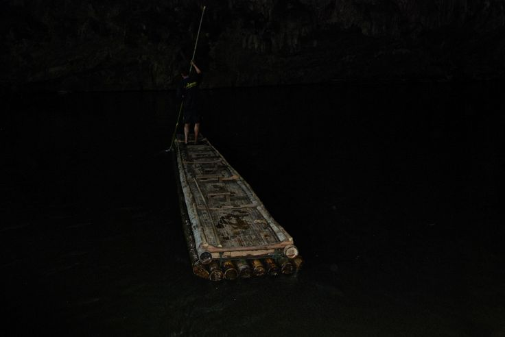 The raft, Lam caves Soppong, Nth Thailand