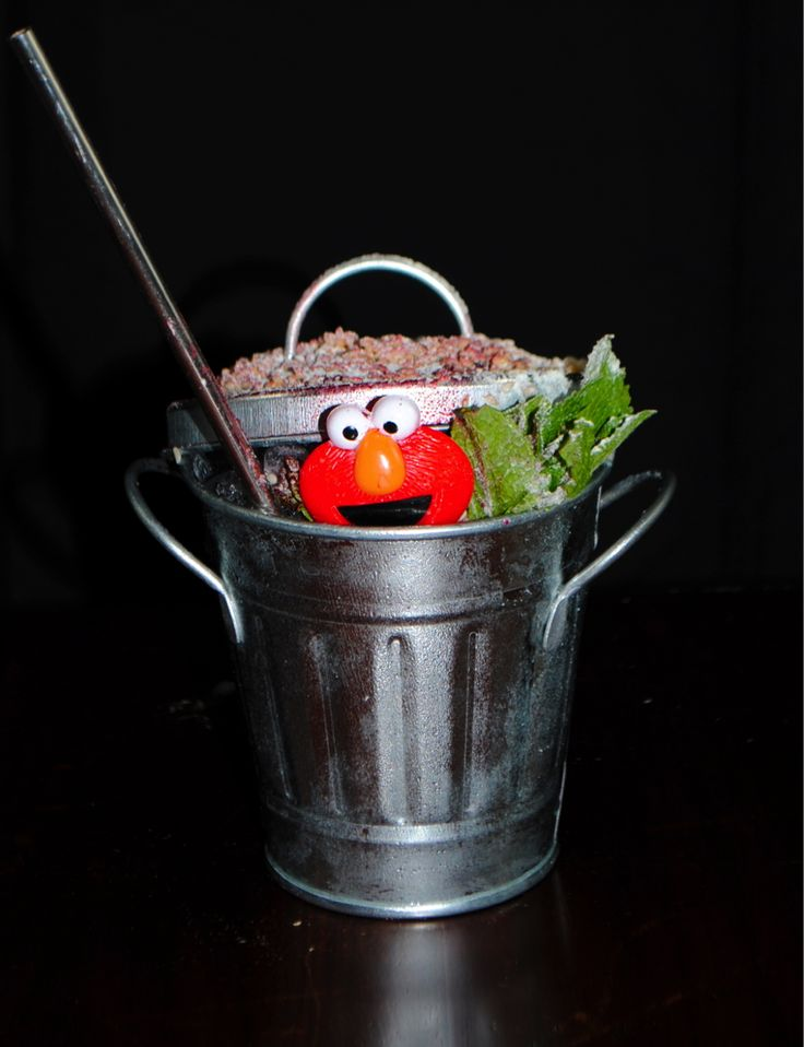 """Sesame Peat"" - tequila, sesame & five-spice syrup, lemon & grapefruit sherbet, a touch of smoke and... Elmo."