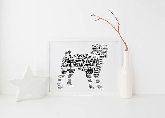 Pug Dog Custom Print FREE UK Postage Pet Portrait Pug Gift