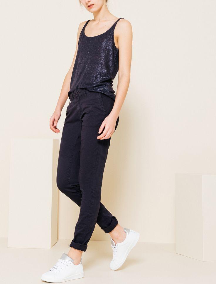 pantalon chino slack femme bizzbee bizzbee girl pinterest. Black Bedroom Furniture Sets. Home Design Ideas