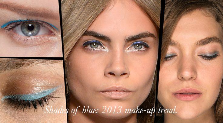 синий макияж глаз