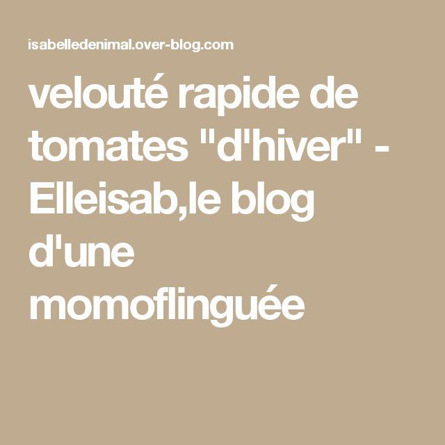 """velouté rapide de tomates """"d'hiver"""" - Elleisab,le blog d'une momoflinguée"""