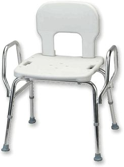 Snap-N-Save Heavy Duty Shower Chair with Arms and Back  - Bariatric Shower Stools & Bathtub Chairs