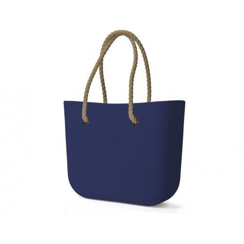 Zestaw | Obag Body Blue navy + Uchwyty sznurek, kolor naturalny